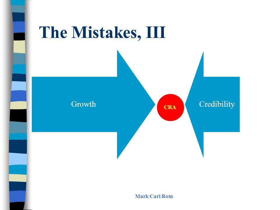The Mistakes, III Mark Carl Rom