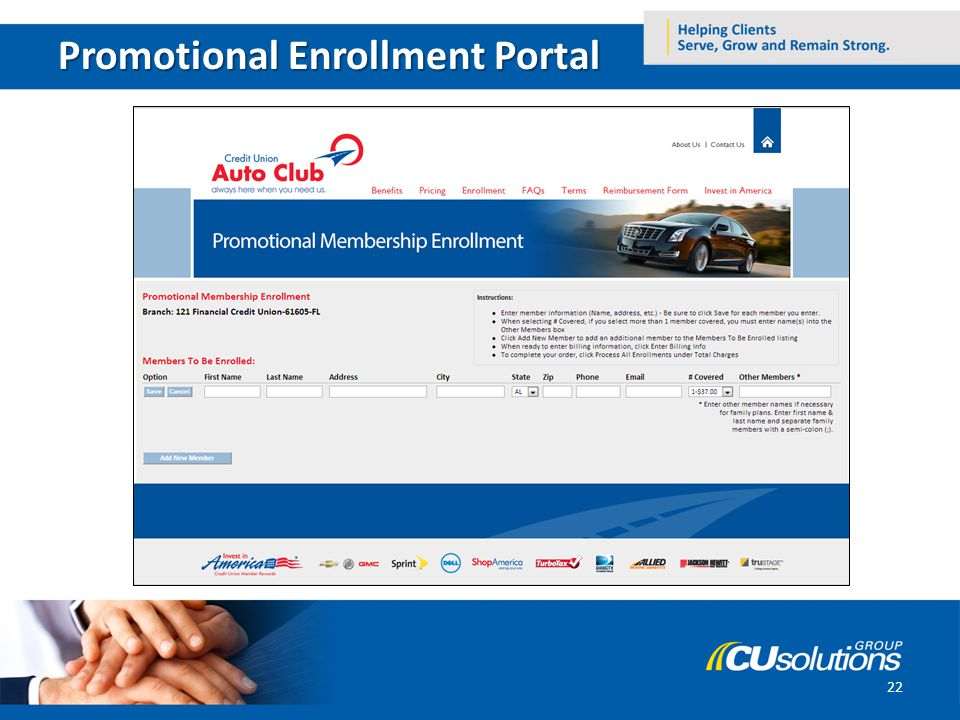 Promotional Enrollment Portal 22