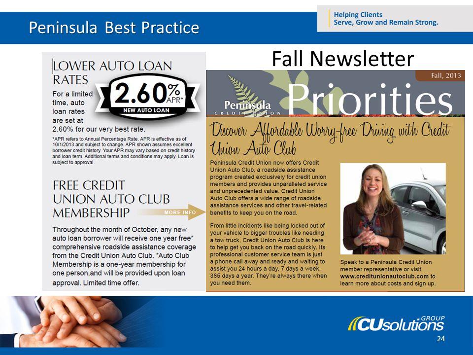 Peninsula Best Practice 24 Fall Newsletter