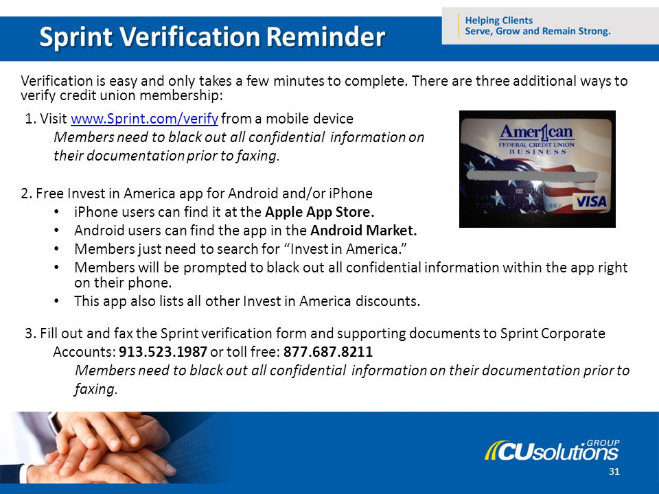 Verification is easy and only takes a few minutes to complete.