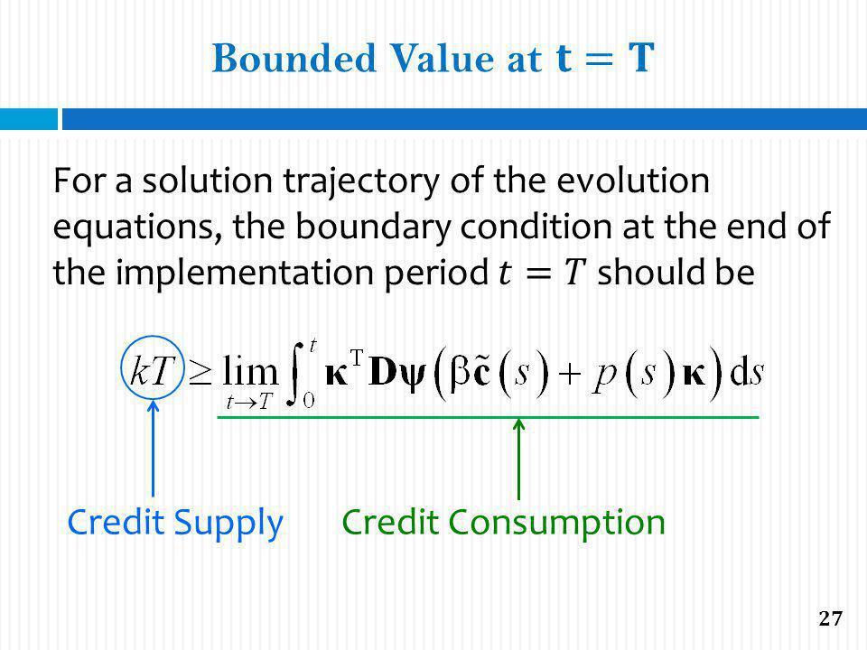 Credit Supply Credit Consumption 27
