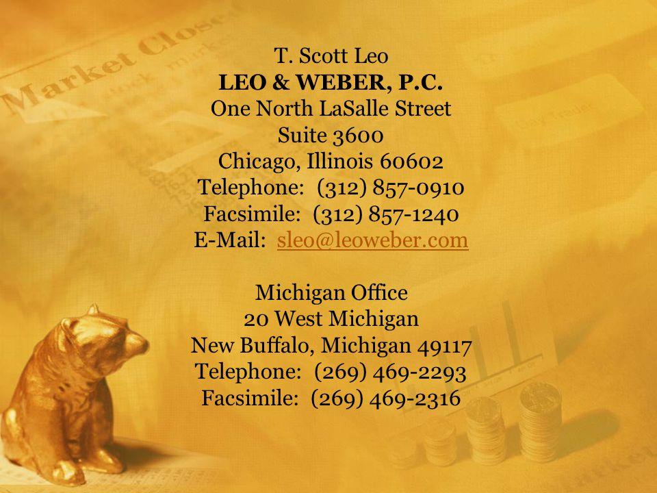 T. Scott Leo LEO & WEBER, P.C.