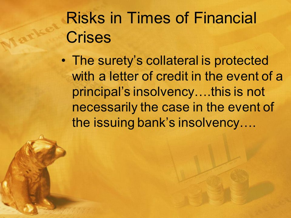 Letters of Credit are not FDIC insured Although letters of credit are specifically listed in the definition of insured deposits in the Federal Deposit Insurance Act (12 U.S.C.