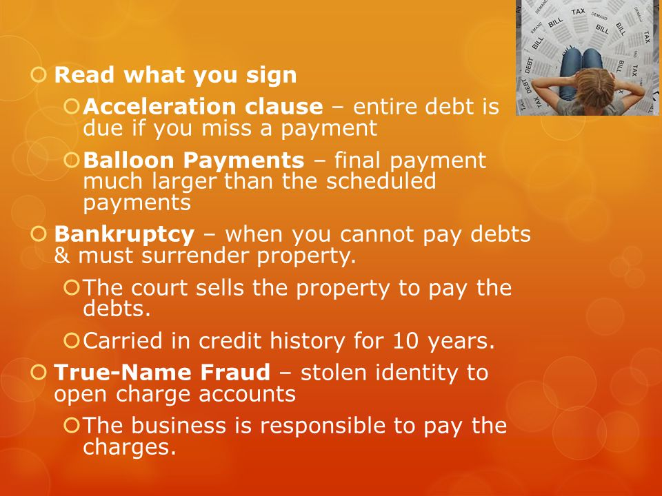 Protect Yourself from Fraud Never give your SS# unless absolutely necessary.