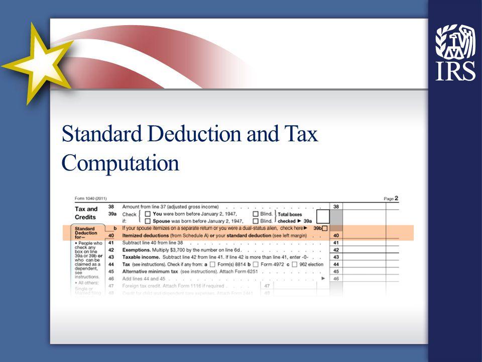 Standard Deduction and Tax Computation