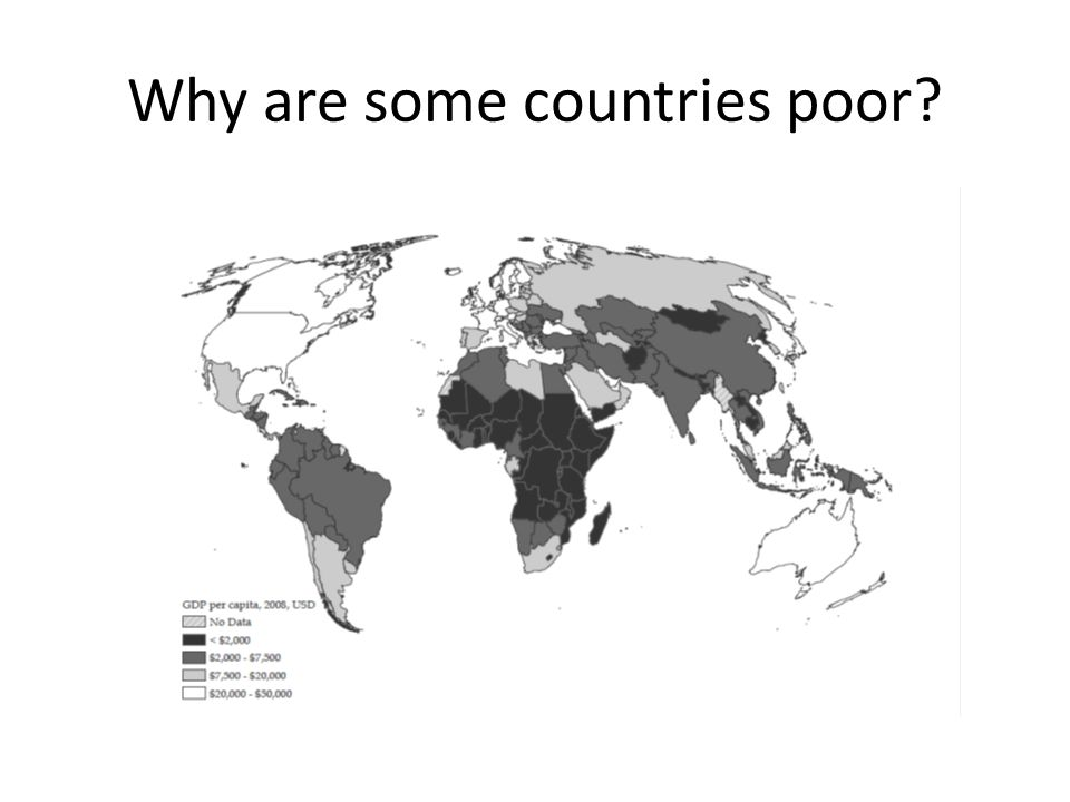 Why are some countries poor