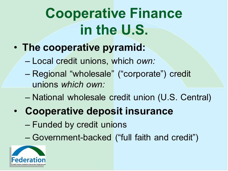Cooperative Finance in the U.S.