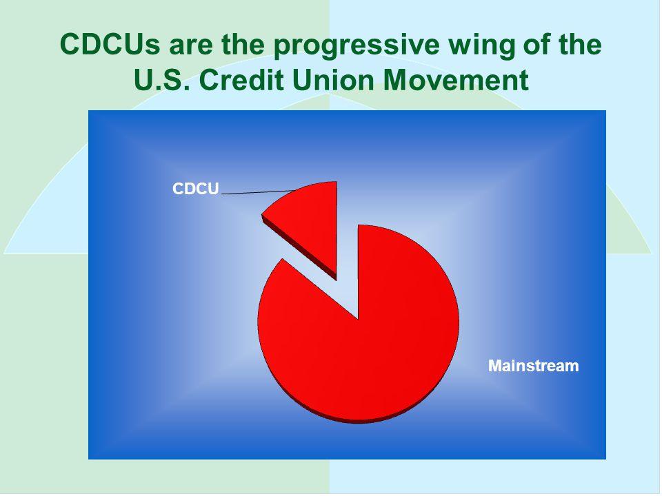 CDCUs are the progressive wing of the U.S. Credit Union Movement