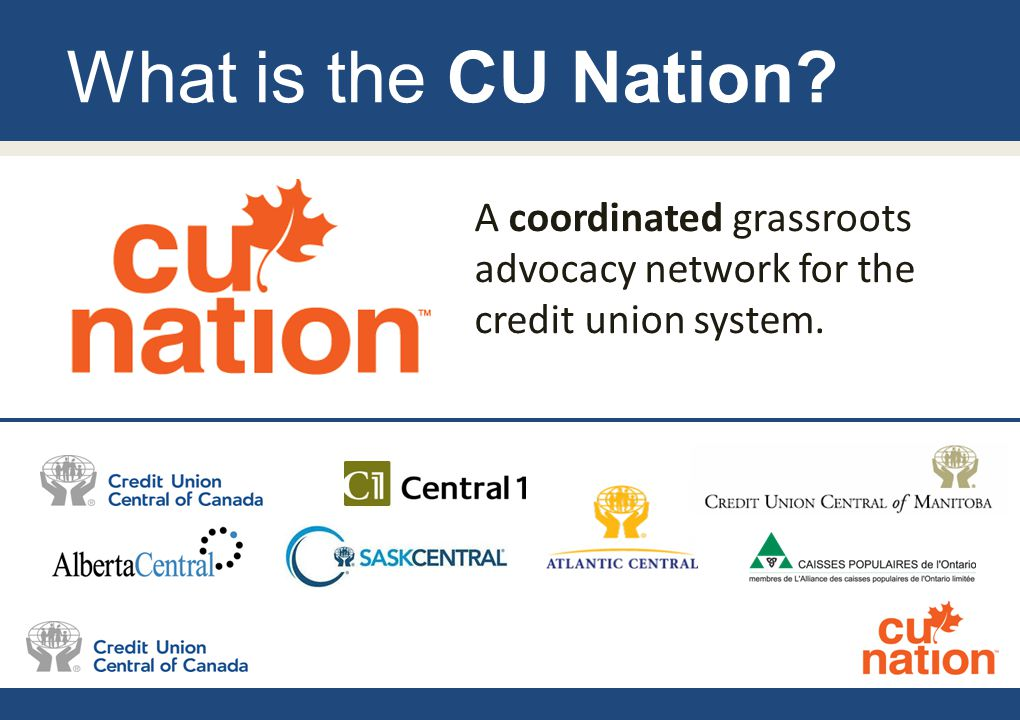 What is the CU Nation? A coordinated grassroots advocacy network for the credit union system.