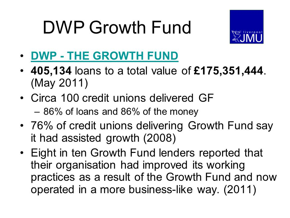 DWP Growth Fund DWP - THE GROWTH FUND 405,134 loans to a total value of £175,351,444.