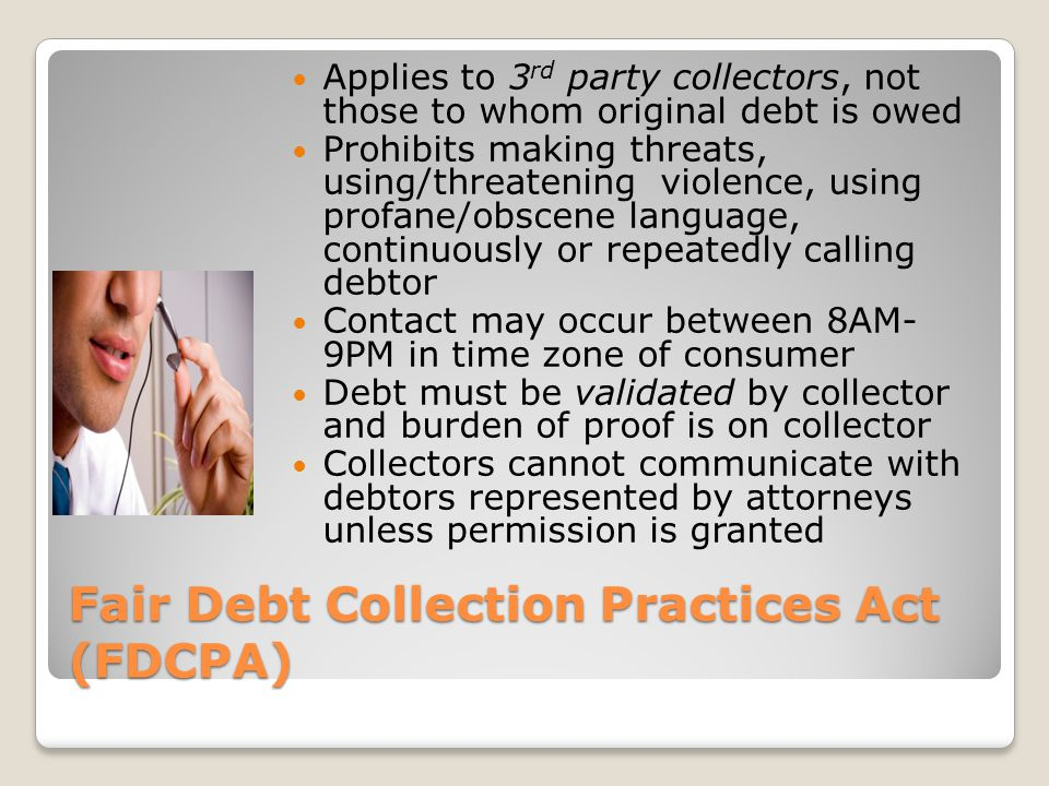Fair and Accurate Credit Transactions Act (FACTA) Enacted to help combat Identity Theft (1) free credit report per year @ www.annualcreditreport.com or 877.322.8228 www.annualcreditreport.com Allows for fraud alerts, credit freezes Defines credit score Limits medical information in making credit decisions