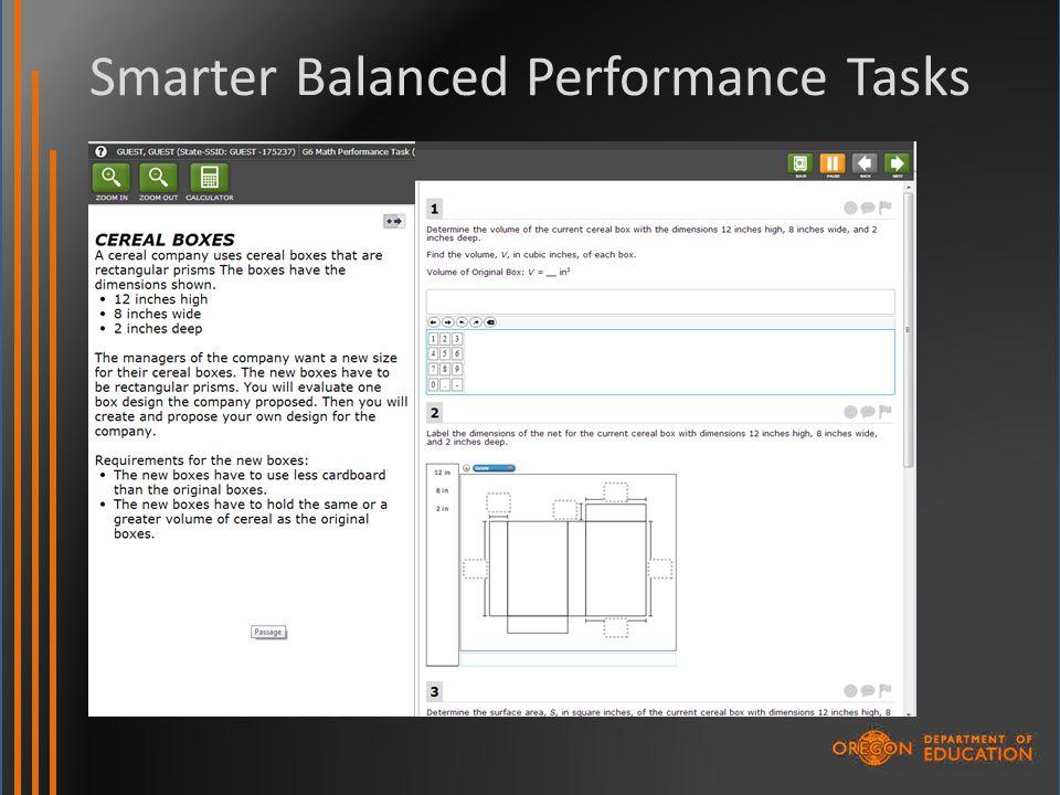 Smarter Balanced Performance Tasks