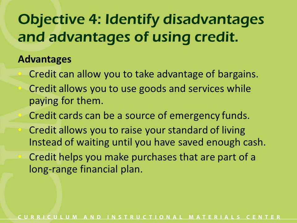 Objective 21: Evaluate a credit situation.