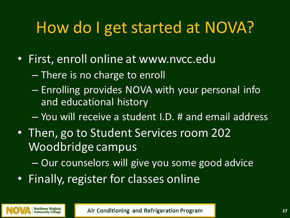 How do I get started at NOVA.