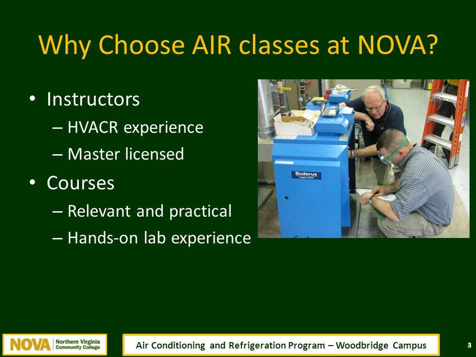 Why Choose AIR classes at NOVA.