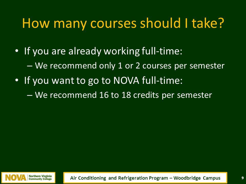 How many courses should I take.