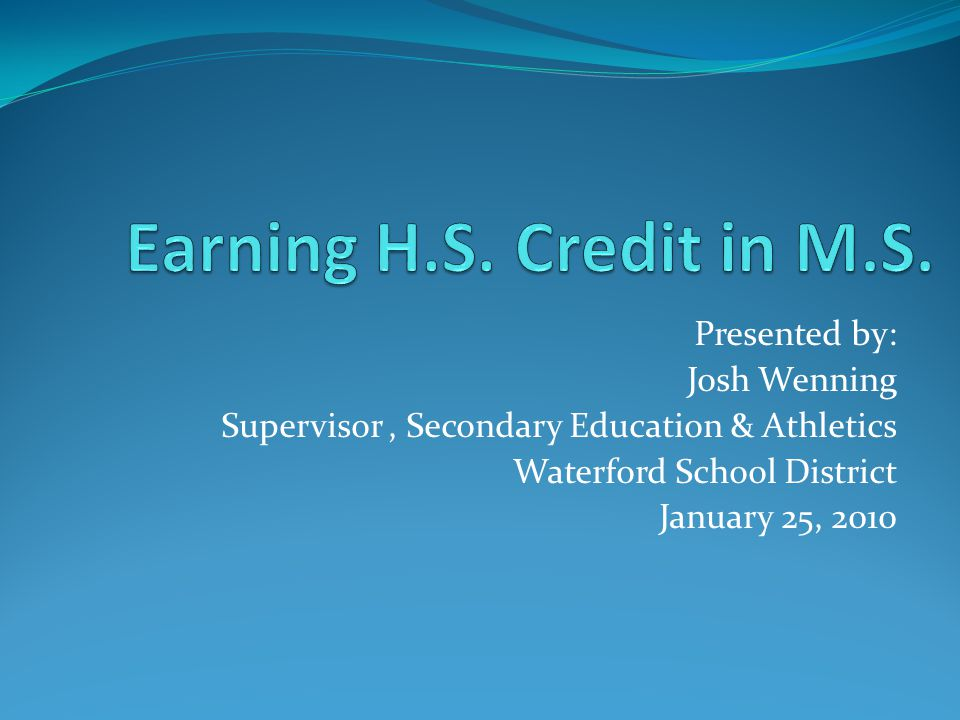 The Situation… Beginning with the Class of 2012 the State of Michigan has adopted the Michigan Merit Curriculum (MMC).