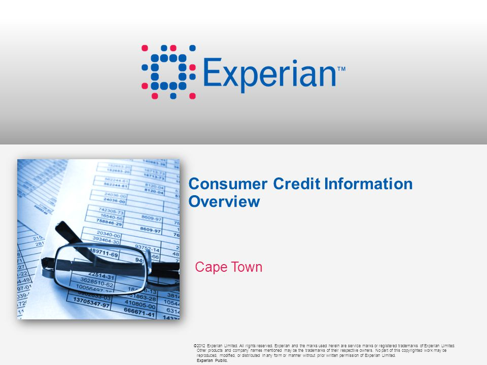 ©2012 Experian Limited.All rights reserved.