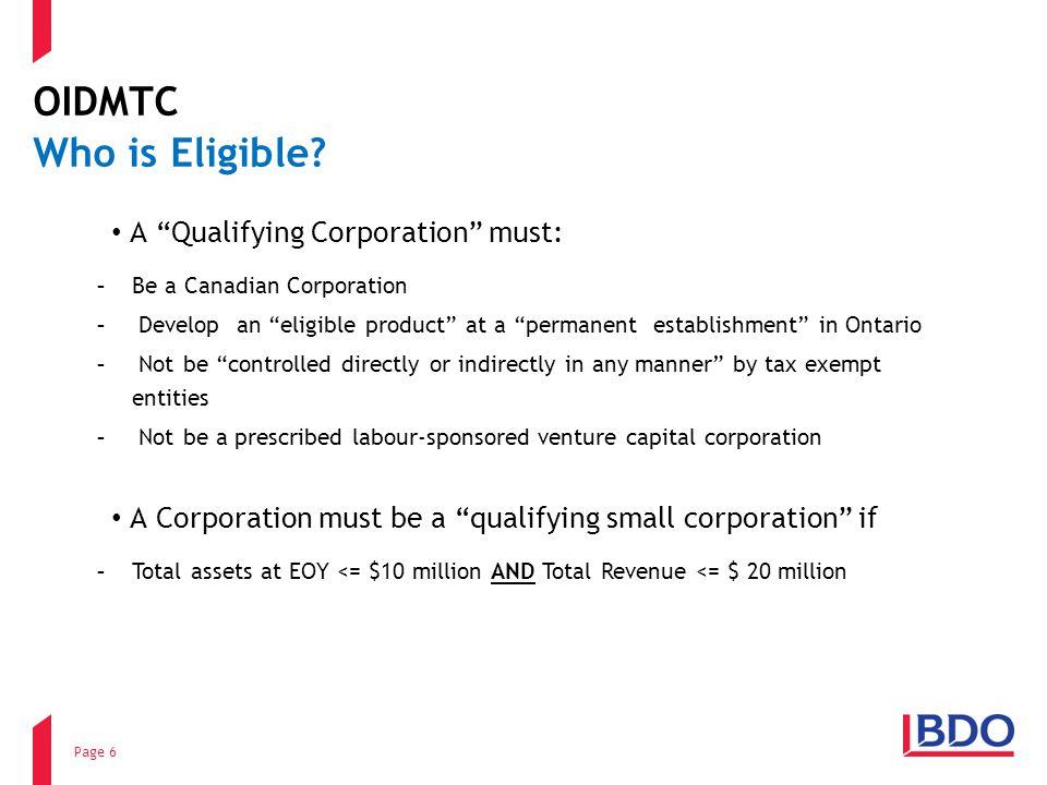 OIDMTC Who is Eligible.