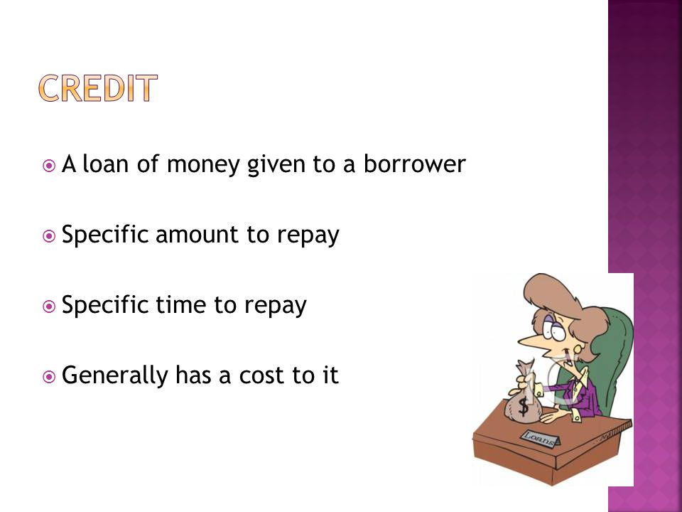 Installment Credit – fixed monthly payments over a specific time period.