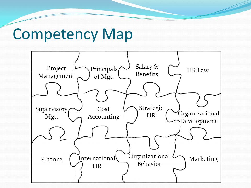 Competency Map Project Management Principals of Mgt.