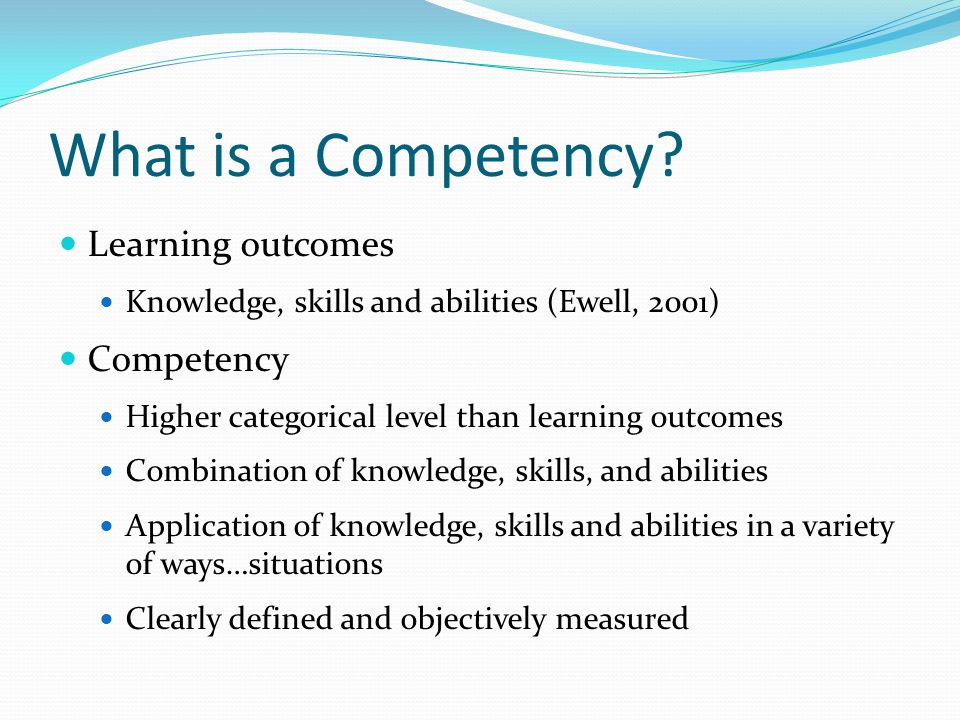 What is a Competency.