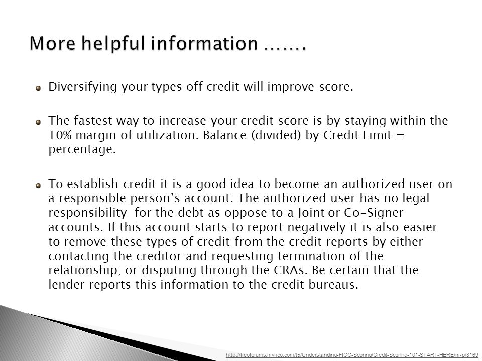 Diversifying your types off credit will improve score.