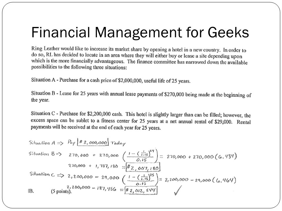 Financial Management for Geeks