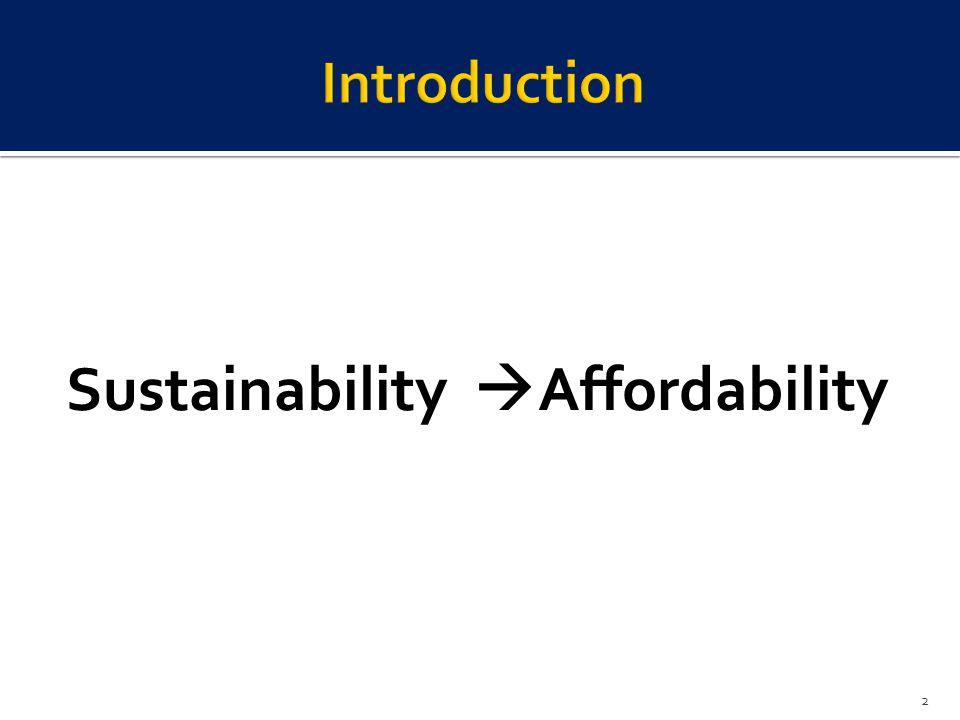 Sustainability Affordability 2