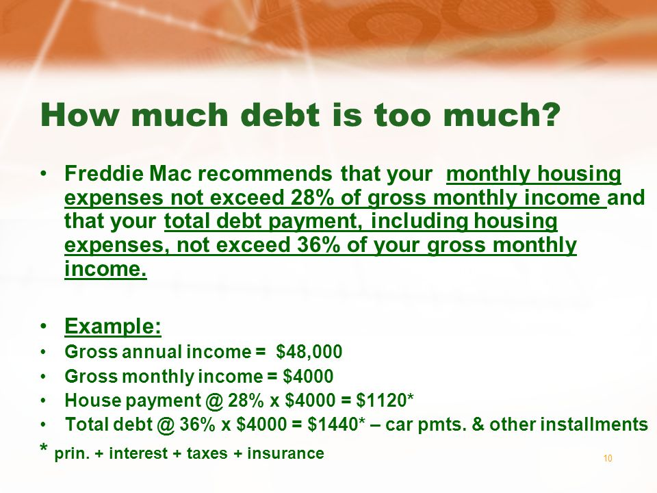 10 How much debt is too much.