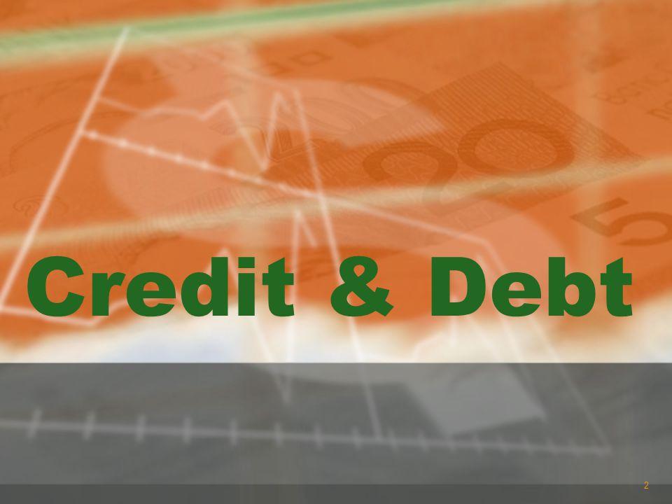 Credit & Debt 2