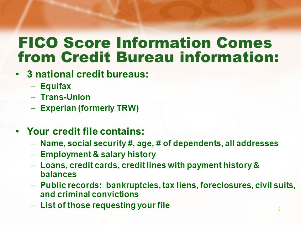 7 Credit Bureaus: Who can see your credit report.