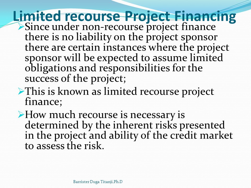 The Contractual Structure Project contracts Concession agreement Construction contract on a turnkey basis (EPC) Off-take agreements Supply agreements Operating and maintenance agreement (O&M) Finance documents: Loan Agreement/Common Term Agreement; Intercreditor agreement; Equity support; Security documents.