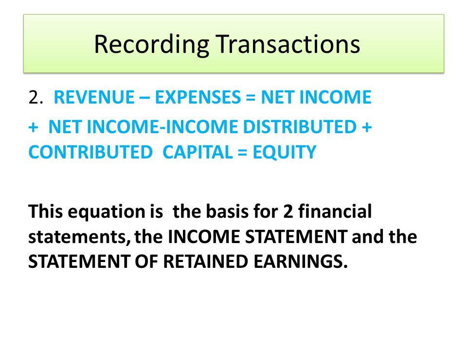 Recording Transactions 2.