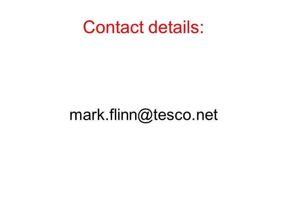 Contact details: mark.flinn@tesco.net