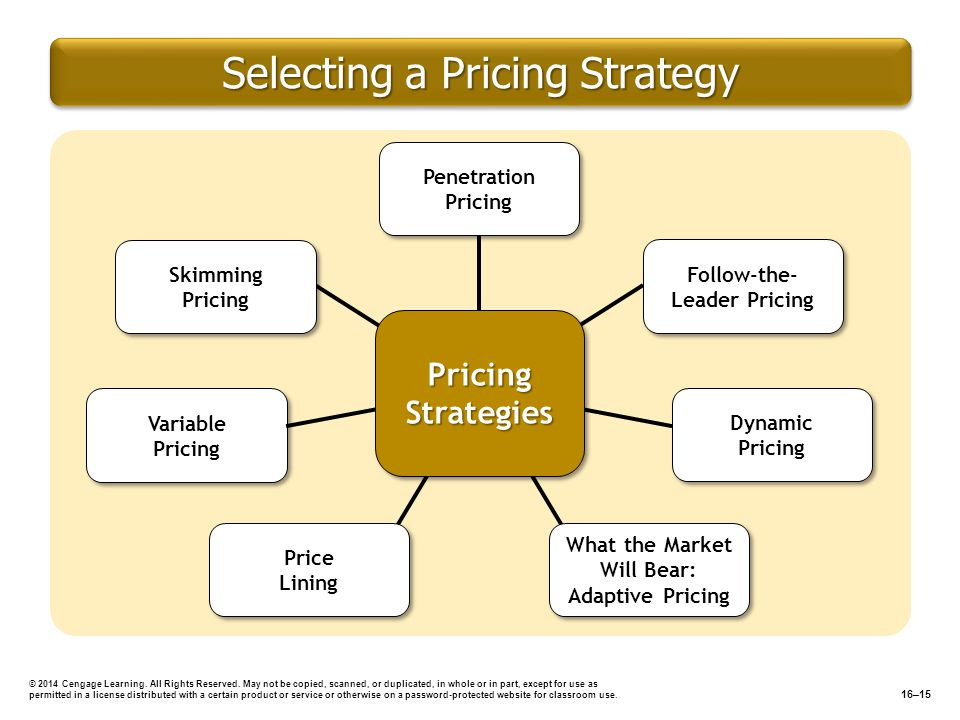 Selecting a Pricing Strategy © 2014 Cengage Learning. All Rights Reserved. May not be copied, scanned, or duplicated, in whole or in part, except for