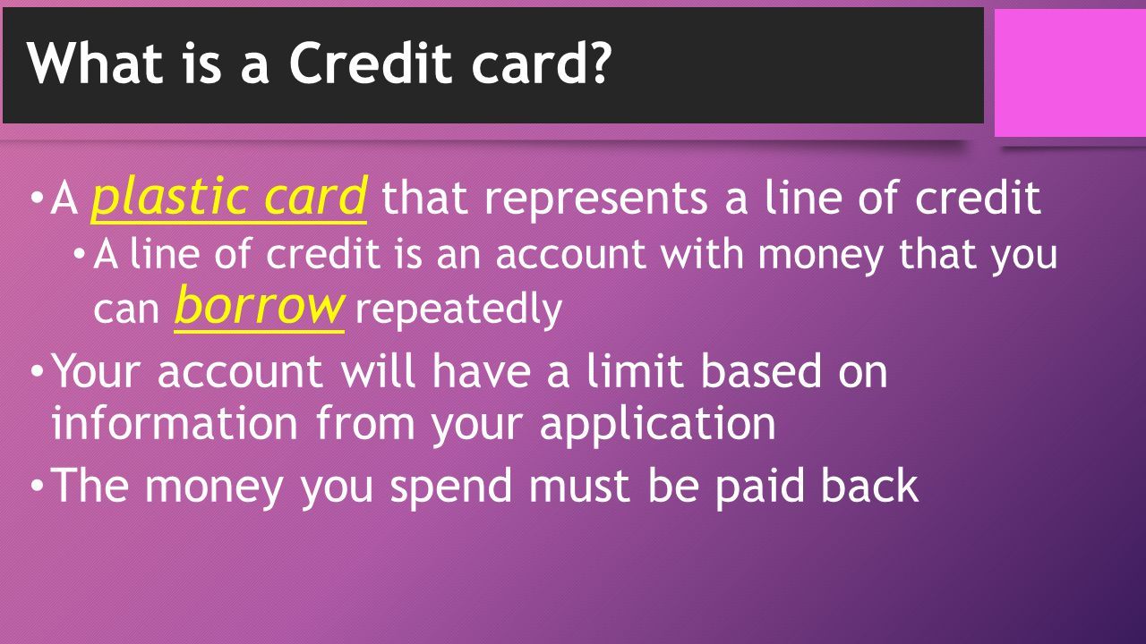 Parts of a Credit Card: Front