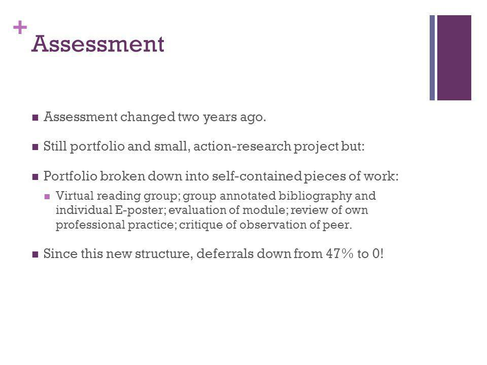 + Assessment Assessment changed two years ago.