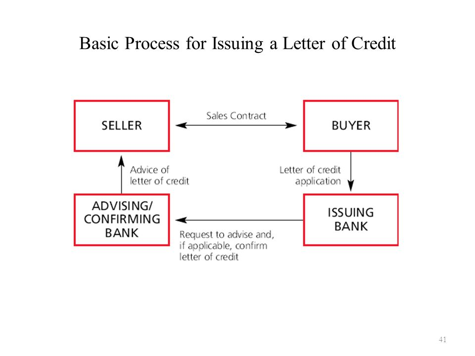 Basic Process for Issuing a Letter of Credit 41