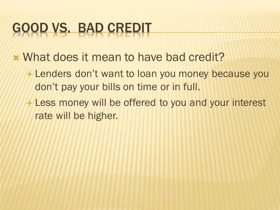How can you build good credit.