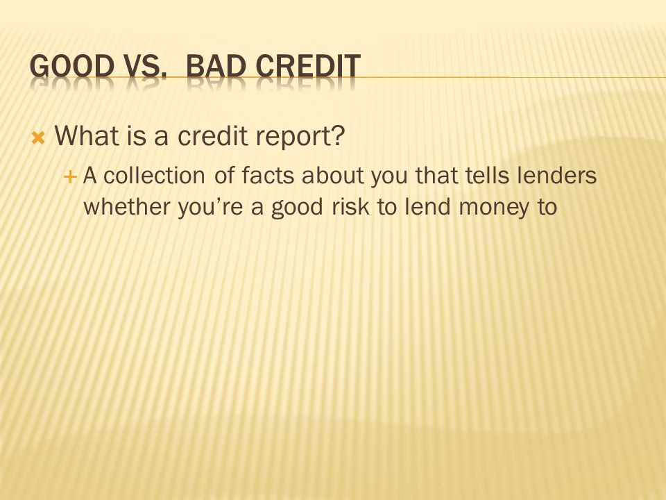What is part of your credit report.