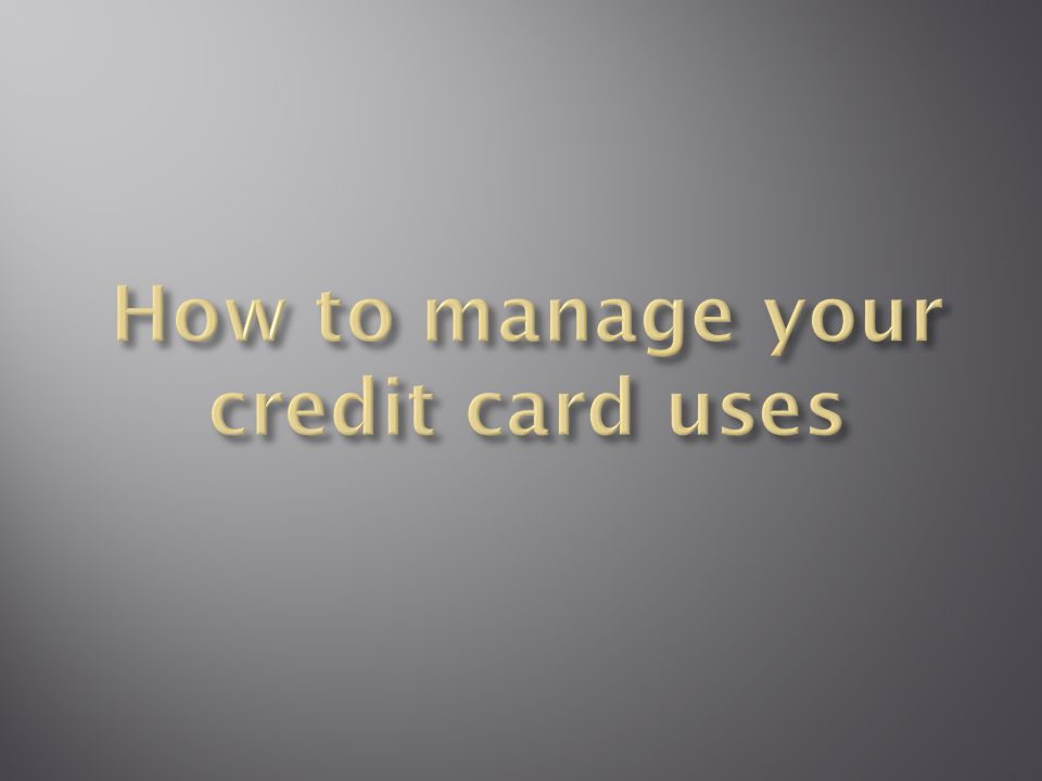 Credit cards have become so much a part of today s lifestyle that most people will have At least one card in their possession Much as credit cards are convenient payment tool, it is important to know how to manage them through proper financial planning.