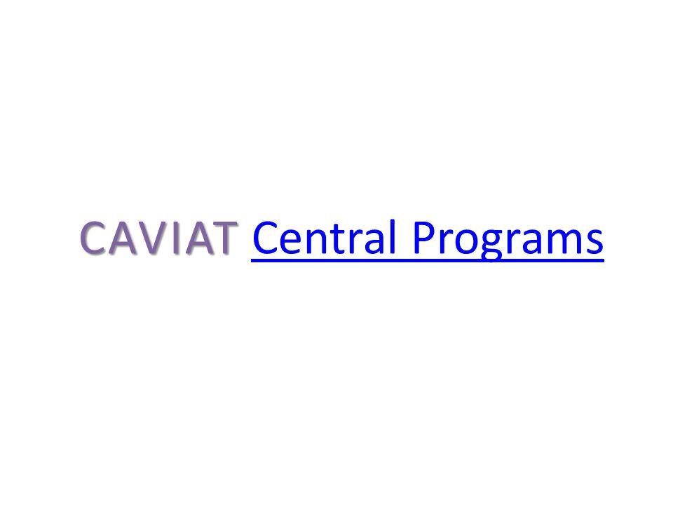 CAVIAT CAVIAT Central ProgramsCentral Programs