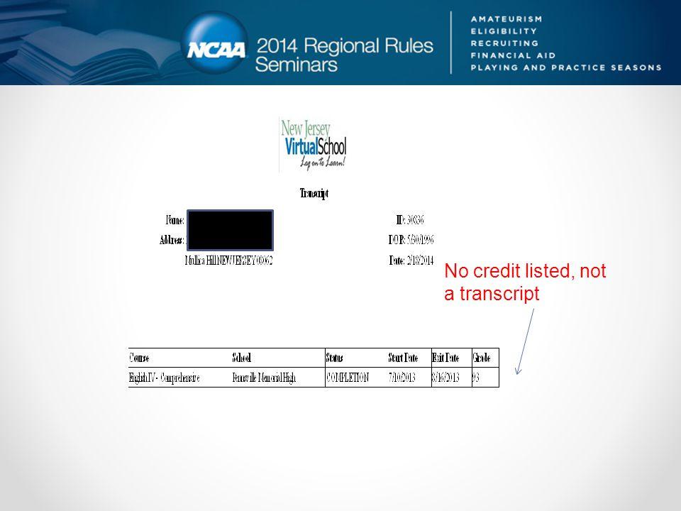 No credit listed, not a transcript