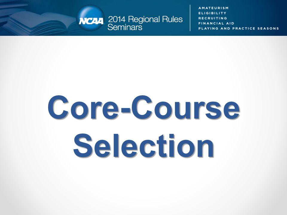Core-Course Selection
