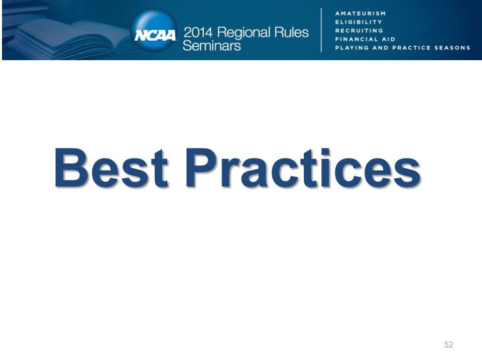 Best Practices 52