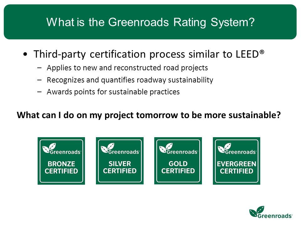 What is the Greenroads Rating System.