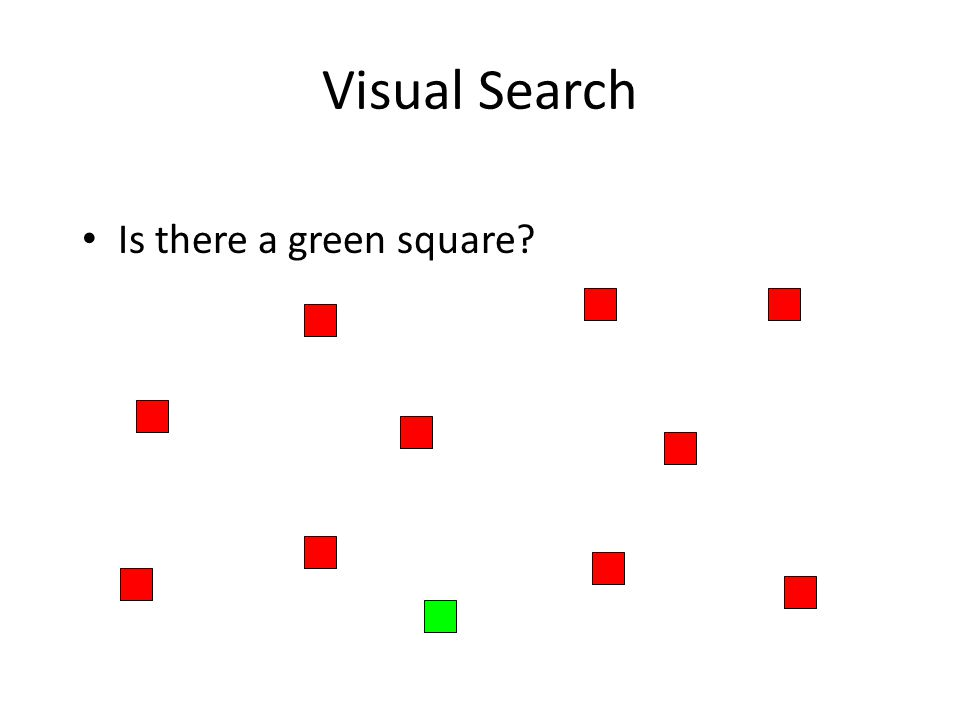 Visual Search Is there a green square?