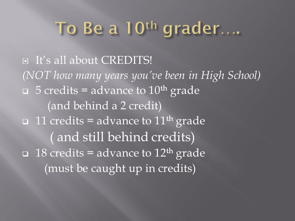 Its all about CREDITS.