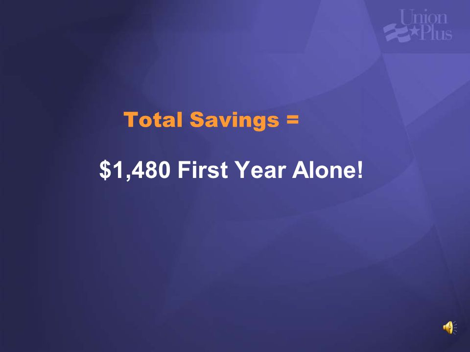 Total Savings = $1,480 First Year Alone!